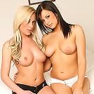Two hot lebians in their bikinis