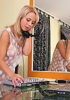 Mika is a sexy busty DJ