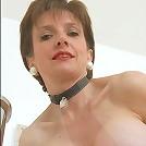Slim huge tits mature